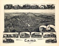 Cairo 1899 Bird's Eye View 17x21, Cairo 1899 Bird's Eye View